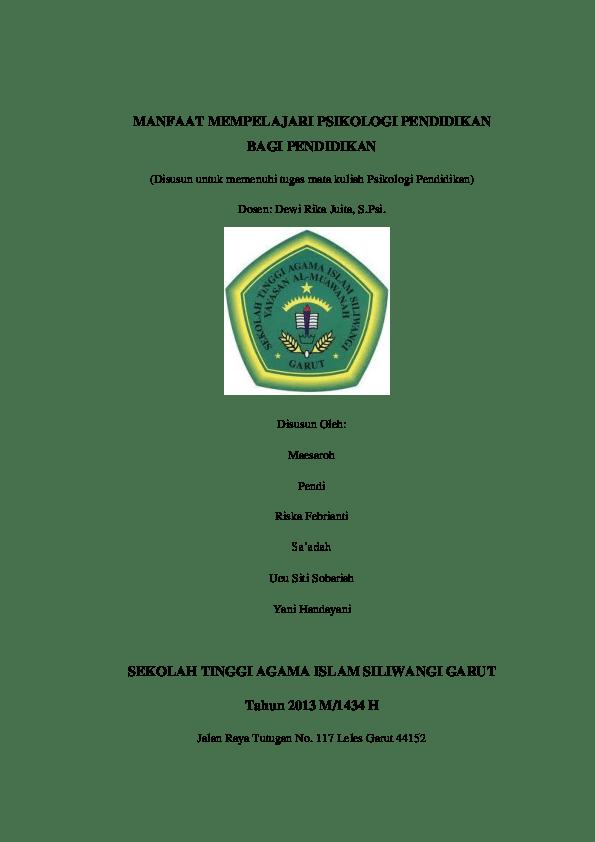 Skripsi Psikologi Pendidikan Pdf