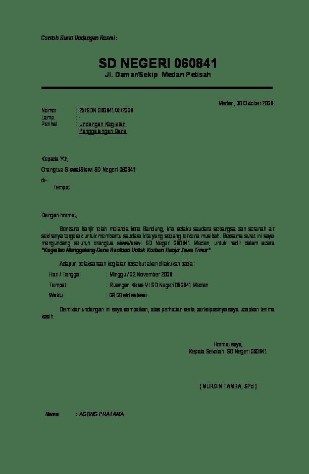 Doc Contoh Surat Undangan Resmi Erlangga Tri Academia Edu
