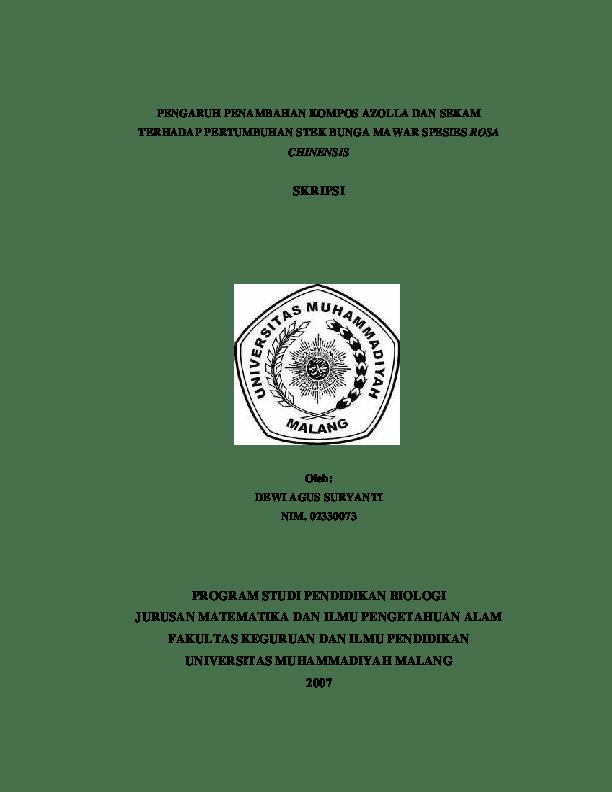 14 Download Skripsi Biologi Gratis