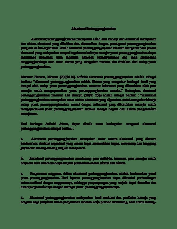 15 Contoh Makalah Akuntansi Pertanggung Jawaban