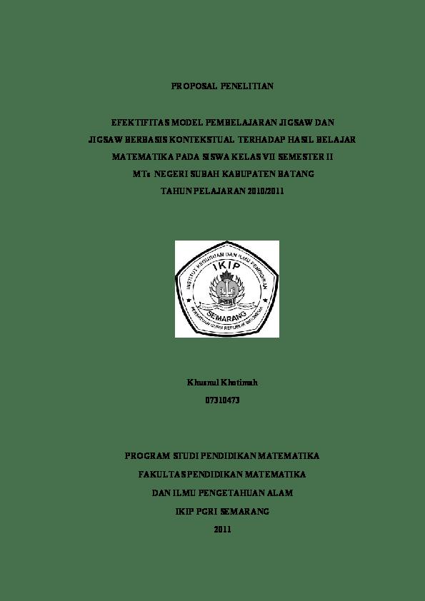 18 Kumpulan Skripsi Pendidikan Matematika Pdf