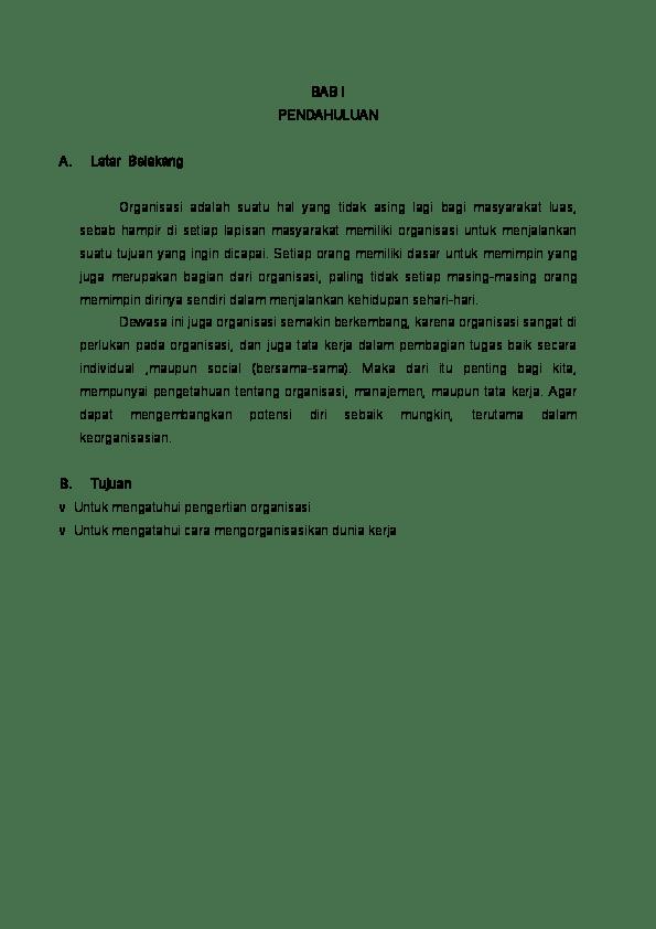 20 Contoh Makalah Tentang Organisasi Pdf