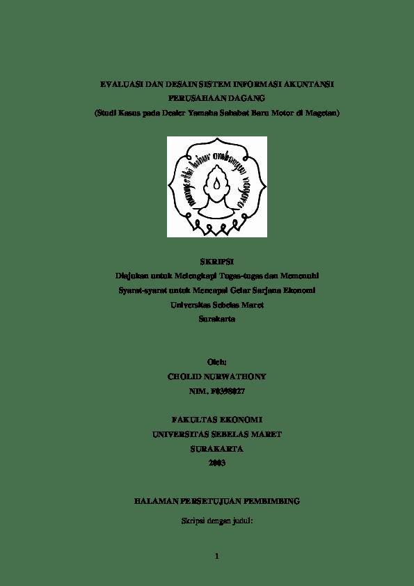 20 Judul Skripsi Sistem Informasi Akuntansi Penggajian