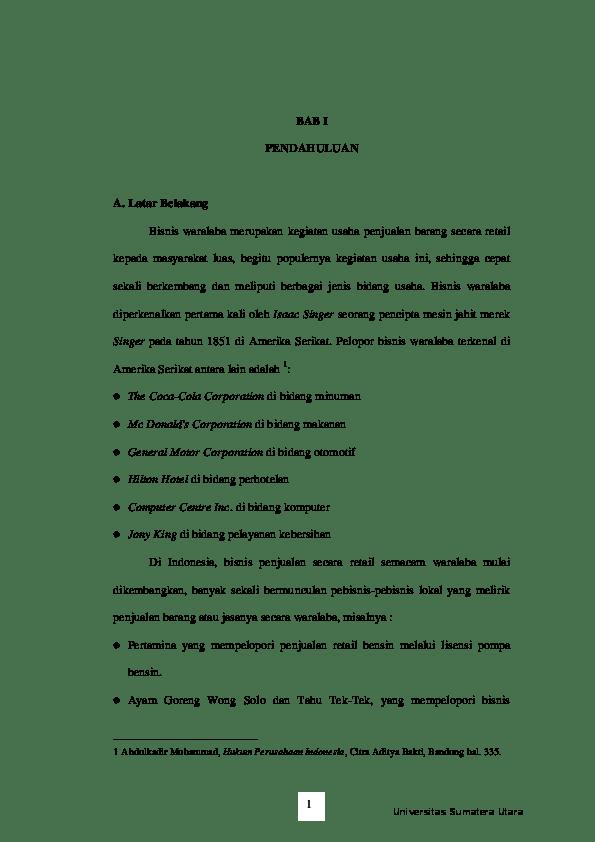 15 Makalah Hukum Bisnis Waralaba