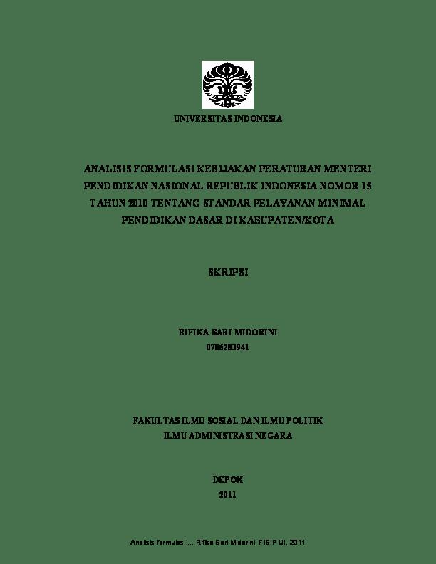 Judul Skripsi Hukum Perdata Ui