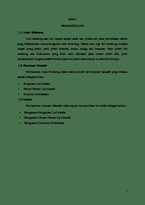 Materi Lari Estafet : materi, estafet, Makalah, Atletik, Estafet