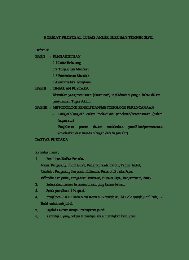16 Contoh Skripsi Teknik Sipil Download