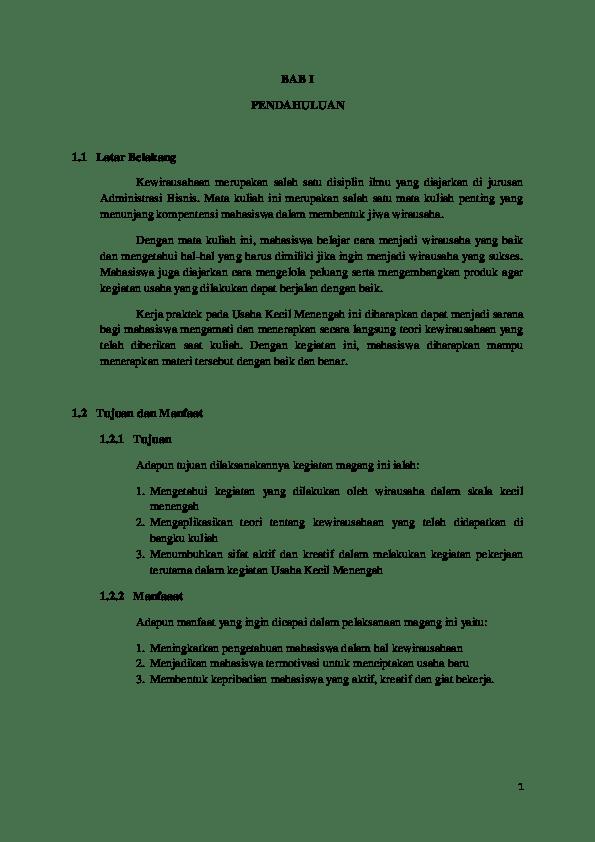 19 Contoh Makalah Bisnis Ukm