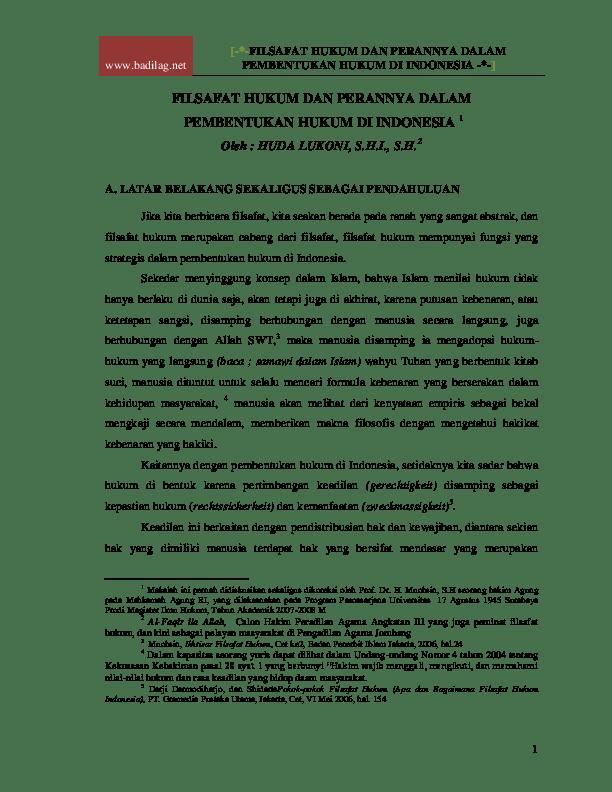 14 Makalah Filsafat Hukum