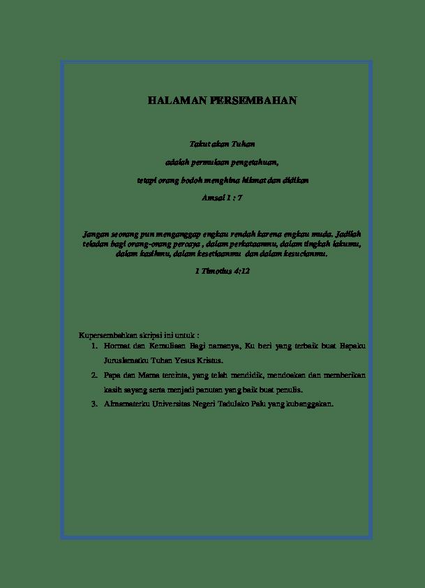 18 Lembar Persembahan Skripsi Dalam Bahasa Inggris