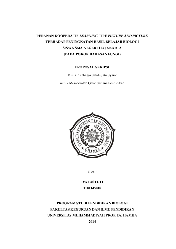 15 Judul Skripsi Pendidikan Biologi Kuasi Eksperimen