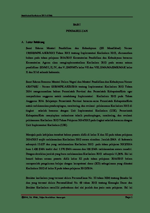 Contoh Laporan Projek Akhir Matrikulasi