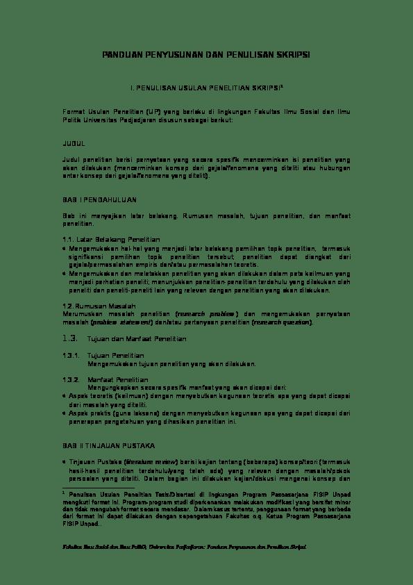 20 Contoh Skripsi Unpad