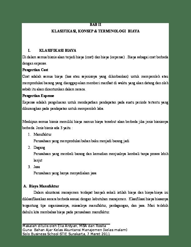 17 Makalah Akuntansi Manufaktur