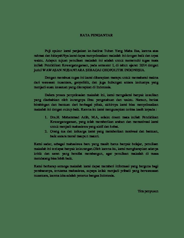 16 Contoh Makalah Pkn Geopolitik