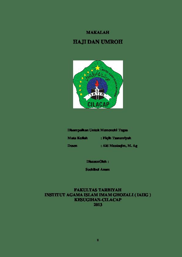 Makalah Haji Dan Umroh : makalah, umroh, Makalah, Fiqih, Umroh