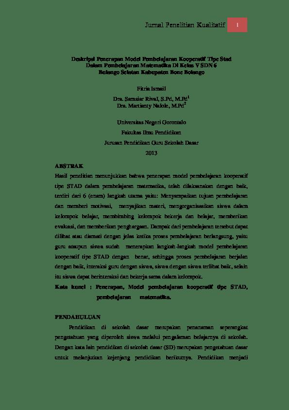 17 Skripsi Pendidikan Matematika Dengan Penelitian Kualitatif