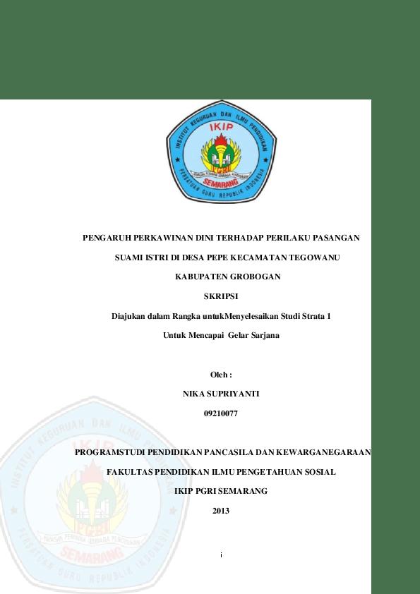 Proposal Skripsi Ahwal Syakhsiyah Pdf Pigura