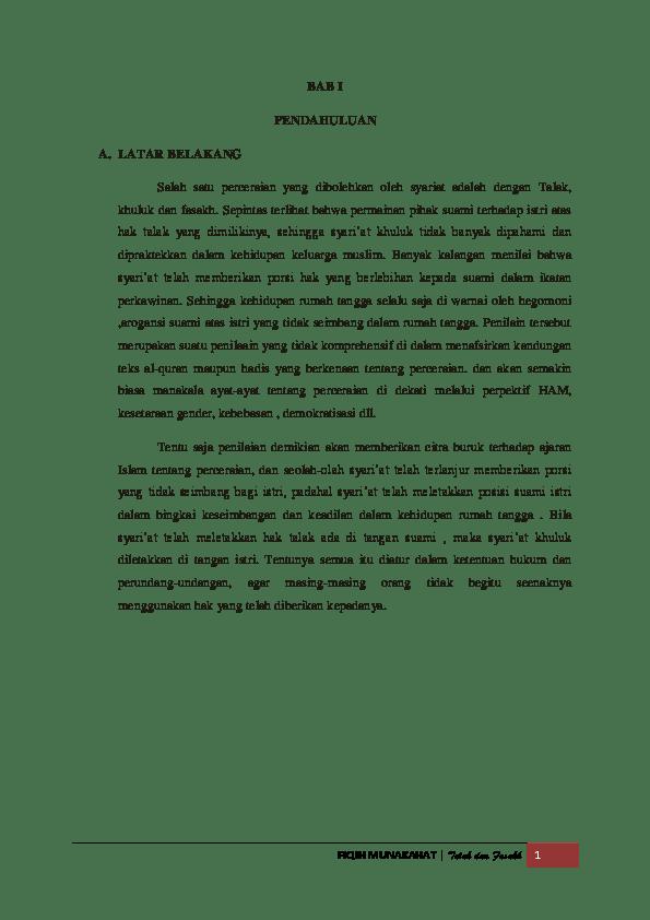 Makalah Fasakh : makalah, fasakh, Makalah, Munakahat, Tentang, Rujuk