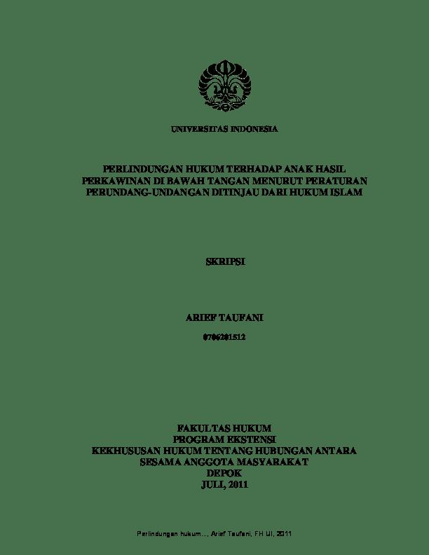Pdf Contoh Skripsi Mahasiswa Ui Dekris Pratama Academia Edu
