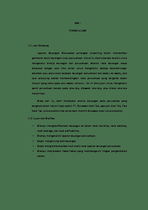 19 Makalah Analisis Laporan Keuangan Pdf