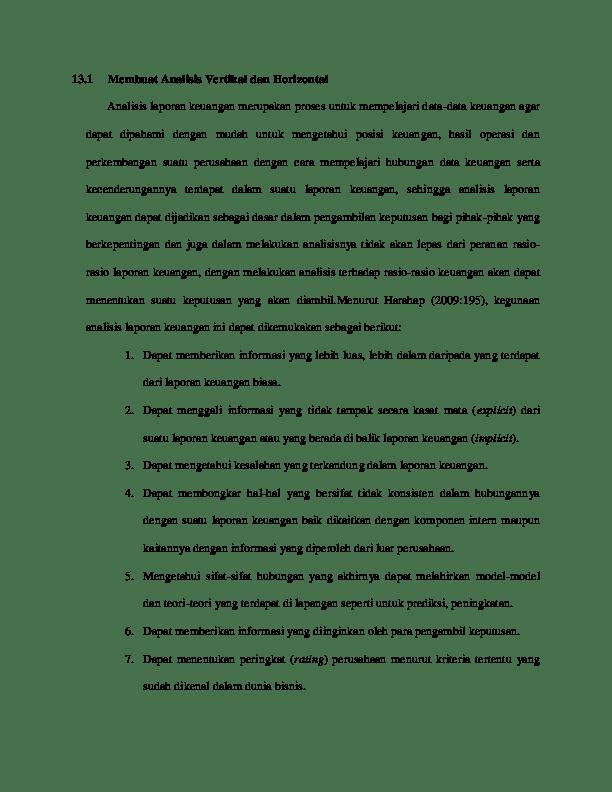 Analisis Rasio Laporan Keuangan Hotel