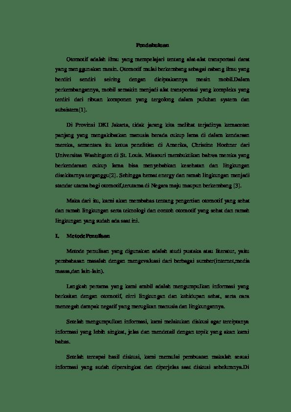 16 Contoh Makalah Otomotif Pdf