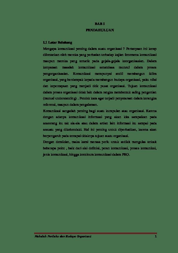 16 Makalah Budaya Organisasi Word