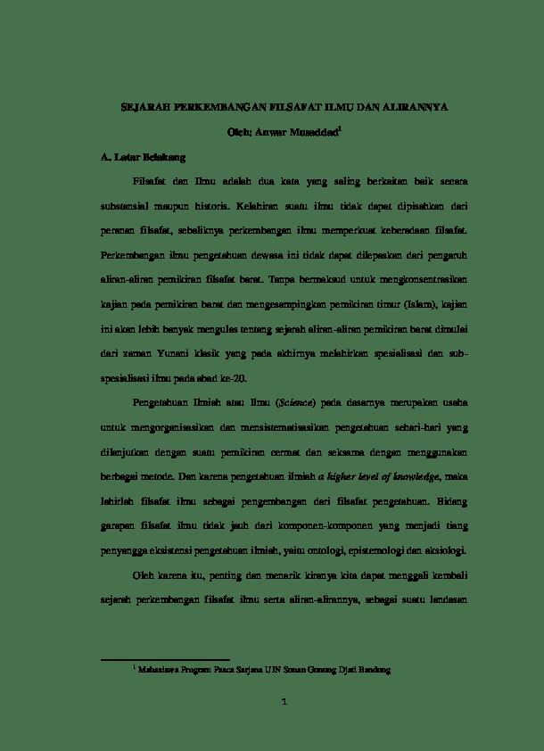 19 Makalah Filsafat Barat Dan Islam