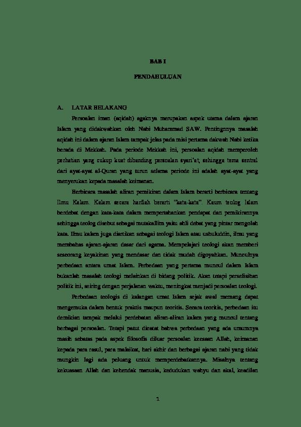 17 Makalah Qadariyah Dan Jabariyah