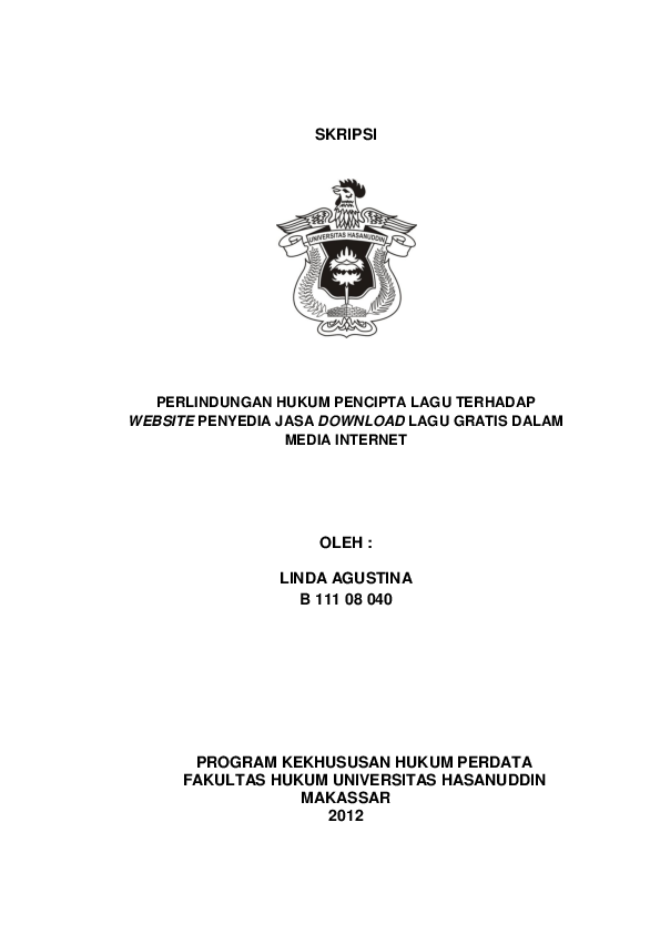 19 Skripsi Hukum Gratis
