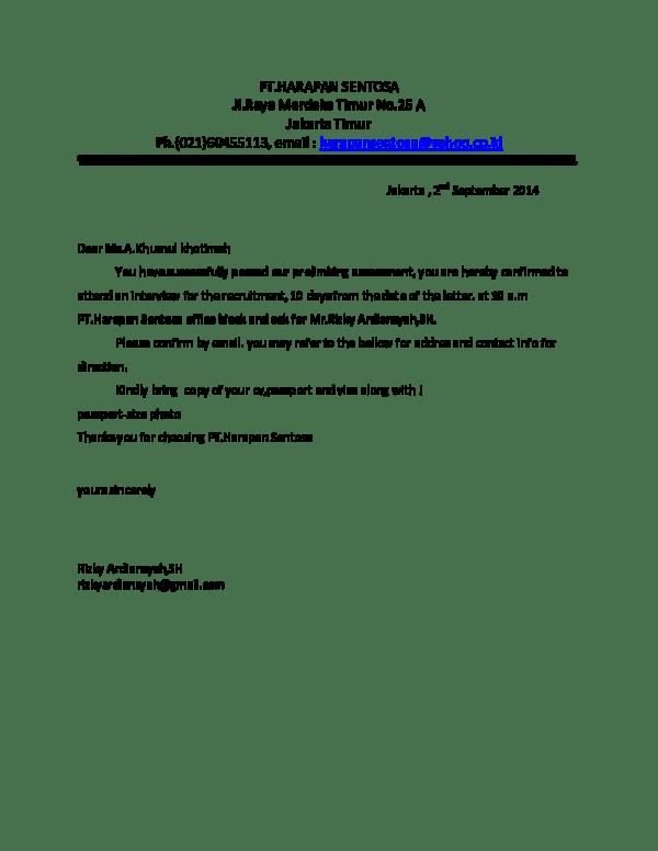 Contoh Surat Balasan Offering Letter Download Kumpulan Gambar