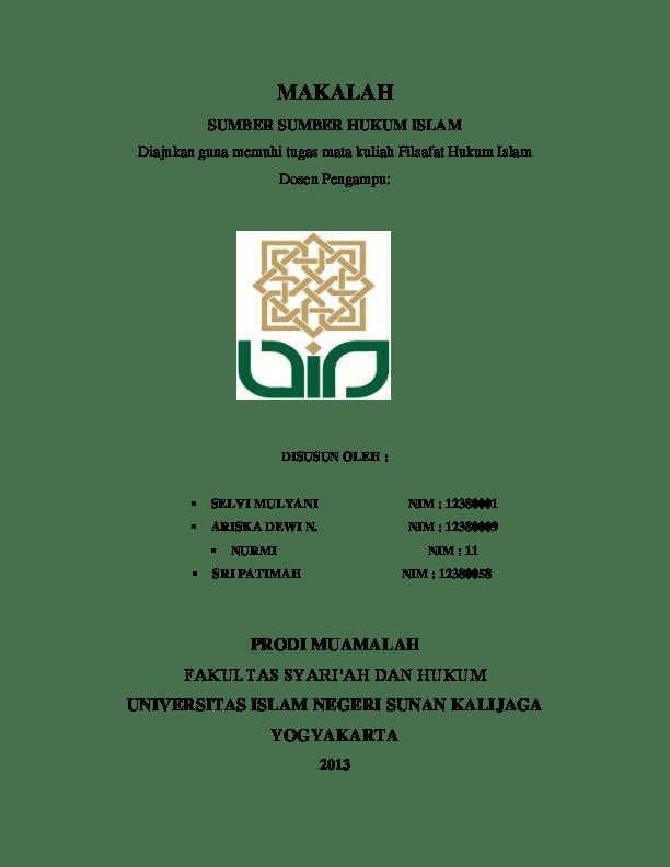 18 Makalah Filsafat Hukum Islam Tentang Hukum Islam