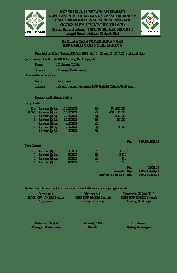 17 Contoh Berita Acara Audit Keuangan