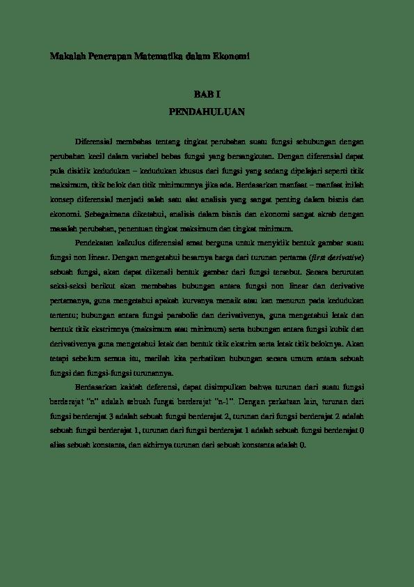 Doc Makalah Ekonomi Makro Inflasi Dan Pengangguran Disusun Untuk Memenuhi Tugas Mata Kuliah Ekonomi Makro Wahyudianto Matanari Academia Edu