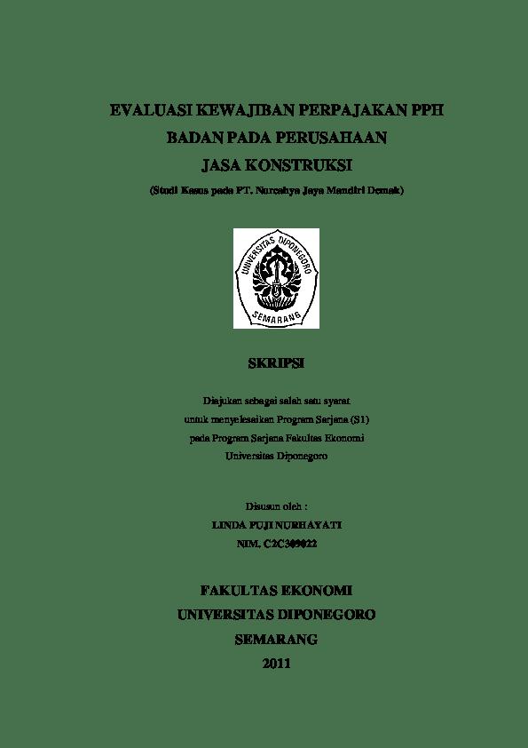 18 Skripsi Akuntansi Perusahaan Jasa Pdf