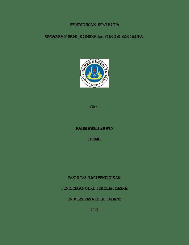 Contoh Proposal Skripsi Pendidikan Seni Rupa Berbagi Contoh Proposal