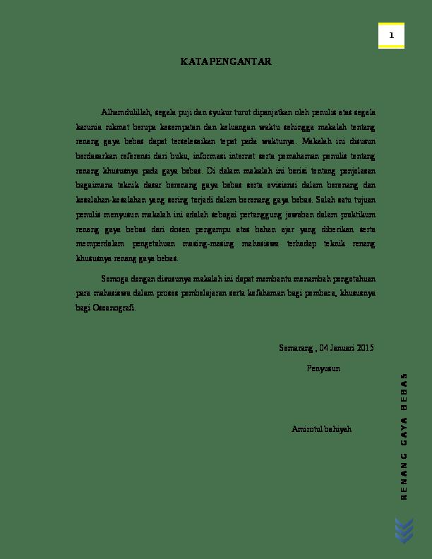 Pengertian Gaya Renang Bebas : pengertian, renang, bebas, Contoh, Makalah, Renang, Bebas, Lengkap