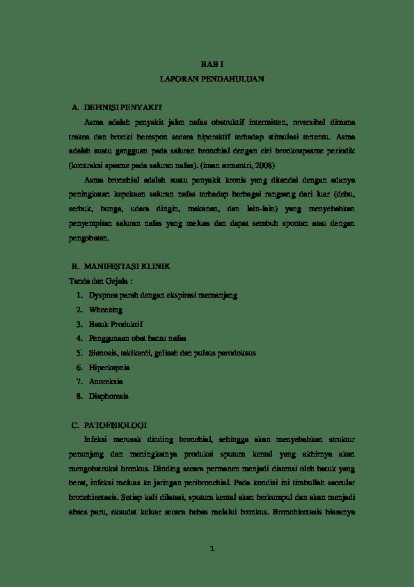 16 Contoh Makalah Askep Asma