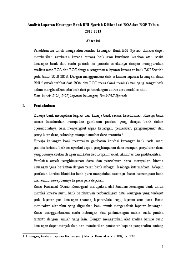16 Makalah Laporan Keuangan Bank Bni Syariah