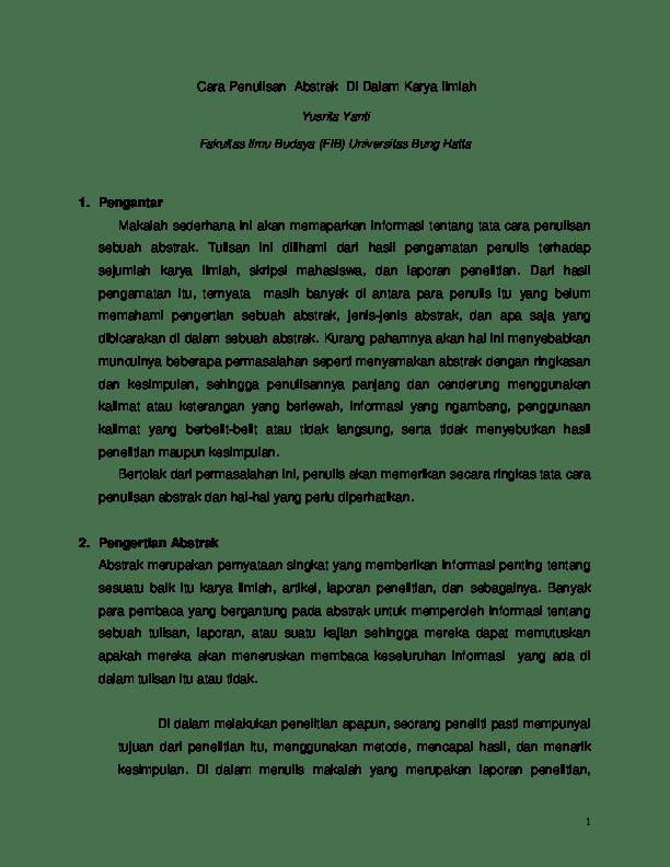 19 Contoh Abstrak Makalah Membaca