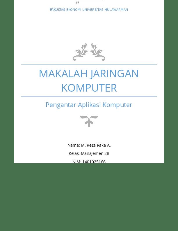 20 Contoh Makalah Jaringan Komputer