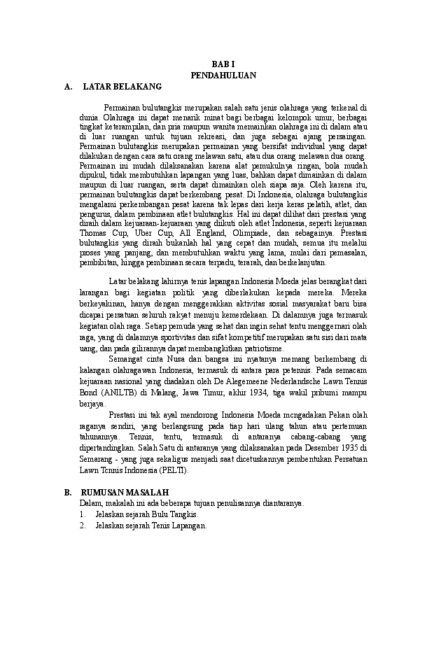15 Makalah Sejarah Bulu Tangkis Pdf