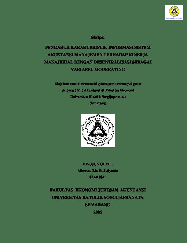 Skripsi Ptk Ekonomi Akuntansi