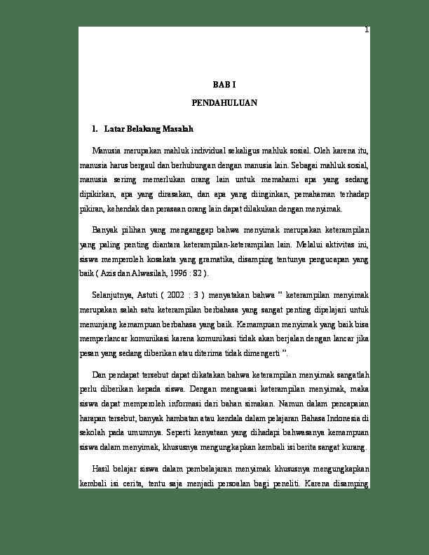14 Judul Skripsi Bahasa Indonesia Di Sd