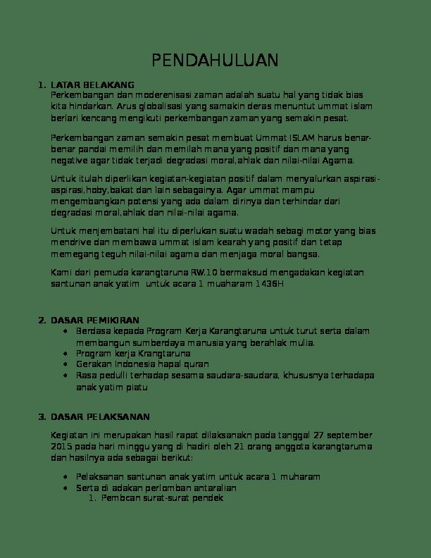 Doc Proposal Santunan Anak Yatim Septian Minoru Academia Edu