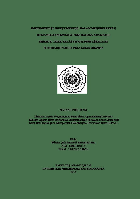 16 Download Skripsi Pendidikan Bahasa Arab Gratis