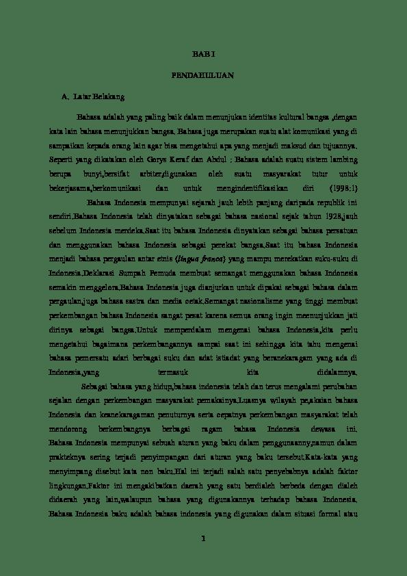 19 Makalah Bahasa Indonesia Sebagai Pemersatu Bangsa