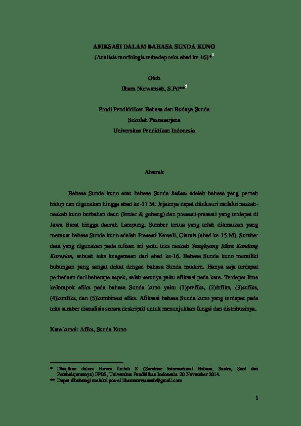 20 Makalah Basa Sunda Kaagamaan