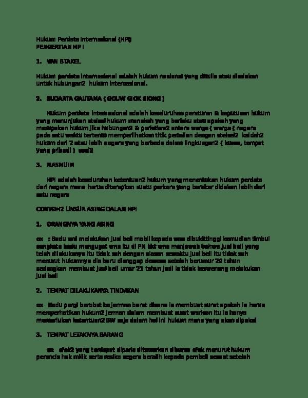 16 Download Contoh Makalah Hukum Perdata Internasional